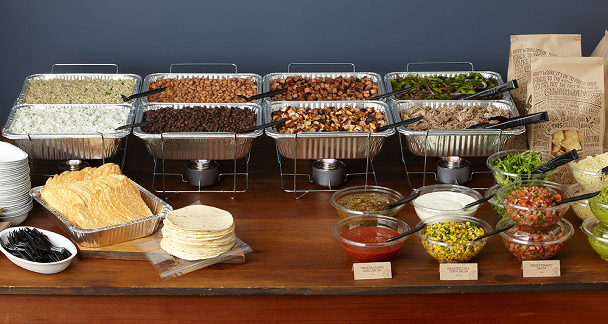 Chipotle Catering Set Up