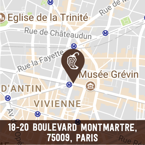 photo of montmartre chipotle france location