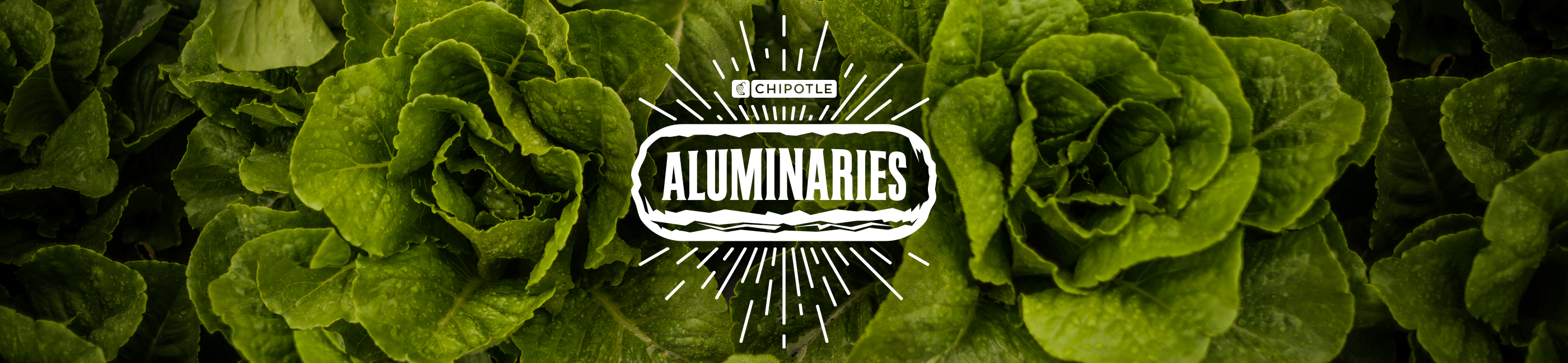 photo of chipotle's aluminaries landing page