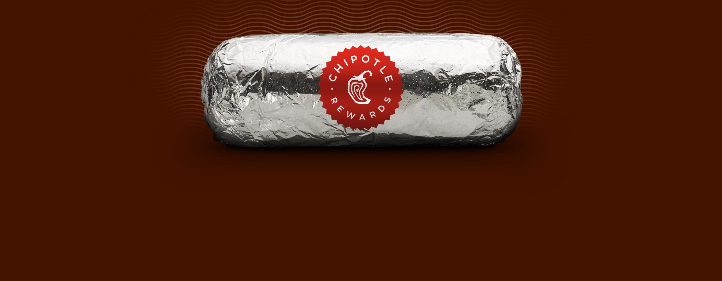 photo of chipotle rewards burrito