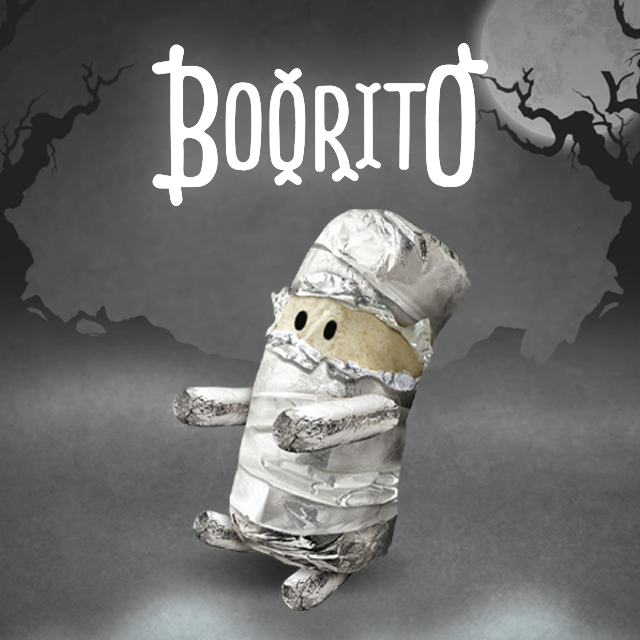 photo of chipotle's boorito halloween promotion